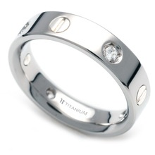 TS-039 DIA - TATIAS, Titanium Ring with Diamond