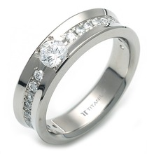 TW-983 DIA - TATIAS, Titanium Ring set with Diamonds