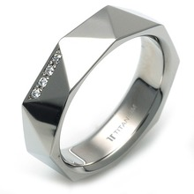 T-988 DIA - TATIAS, Titanium Ring with Diamond