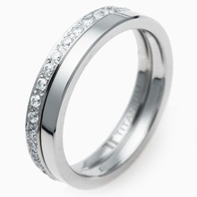 T-876 DIA - TATIAS, Titanium Ring set with Diamonds