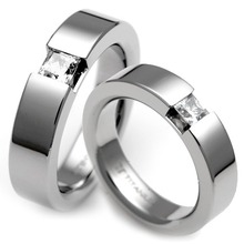 T-365 DIA CO - TATIAS, Titanium Couple Ring