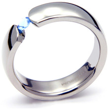 TQ-202 DIA - TATIAS, Titanium Ring with Diamond