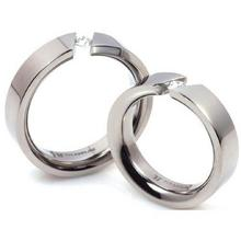 T-707 DIA CO - TATIAS, Titanium Couple Ring