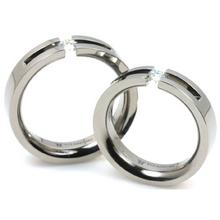 T-723 DIA CO - TATIAS, Titanium Couple Ring