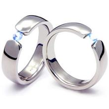 TQ-202 DIA CO - TATIAS, Titanium Couple Ring