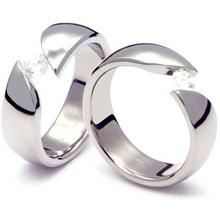 TQ-203 DIA CO - TATIAS, Titanium Couple Ring