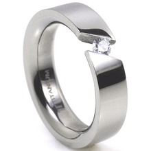 T-707 DIA - TATIAS, Titanium Ring with Diamond