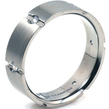 T-912 DIA - TATIAS, Titanium Ring with Diamond