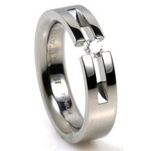 T-723 DIA - TATIAS, Titanium Ring with Diamond