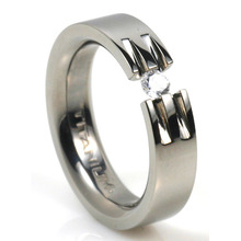 T-724 DIA - TATIAS, Titanium Ring with Diamond